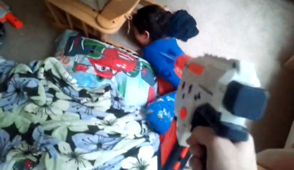 World's Most Awesome Dad Wakes Up Son Doom-Style