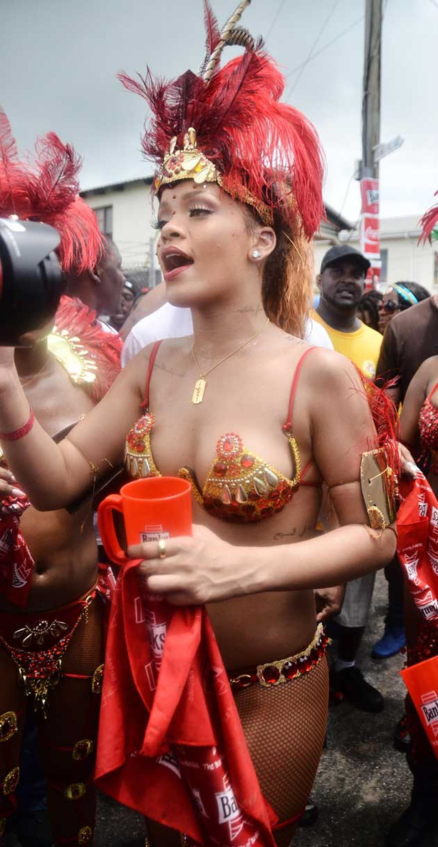 Rihanna Gets Her Parade On
