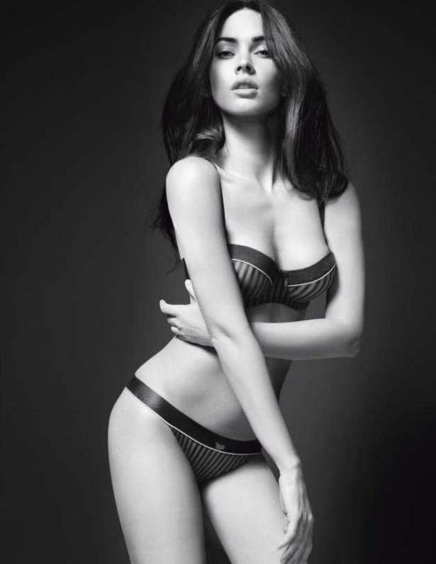 Megan Fox in Her Underwear for Armani