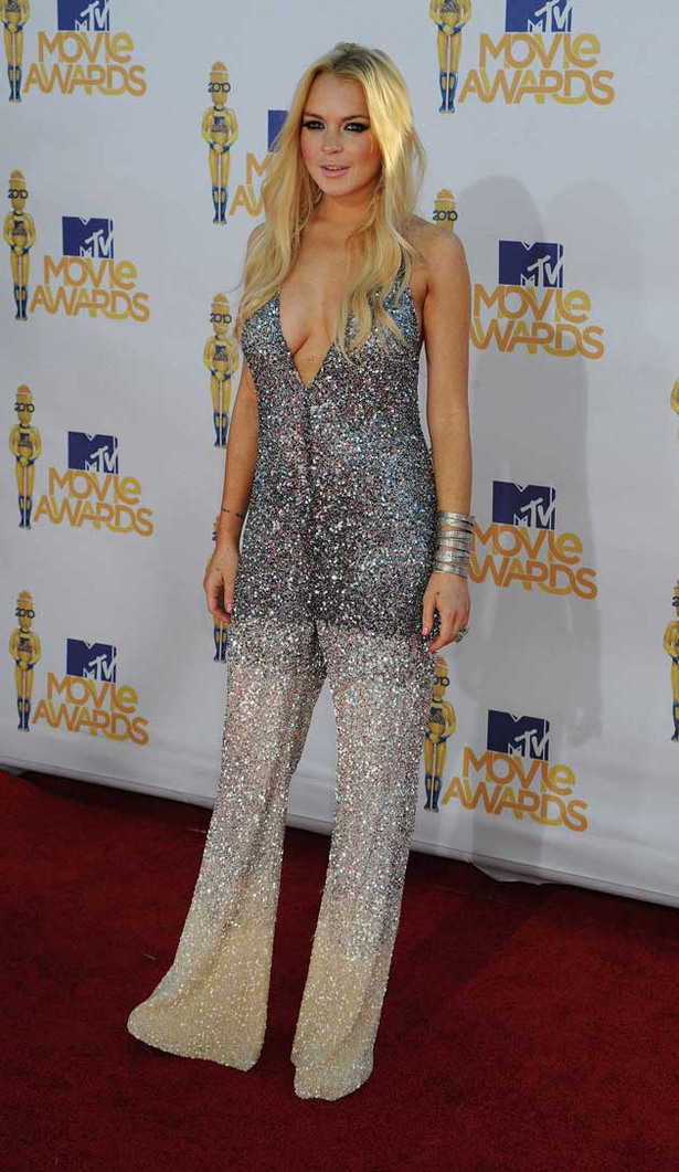 Lindsay Lohan at the MTV Movie Awards 2010
