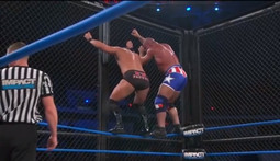 Steel Cage Match: Kurt Angle Vs. Bobby Roode