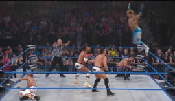 6-Man Tag Bout: The Wolves & Sanada Vs. The BroMans & DJ Z