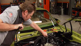 Muscle Car: Project Limelight Engine Accessories & Fiberglass Hood Paint